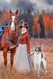 Porträt von Jahrhundert Damen-XIX Stockbilder