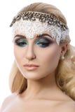 Porträt von jungen nachdenklichen Blondinen Lizenzfreie Stockfotos