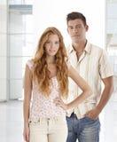 Porträt von jungen Paaren Stockfotos
