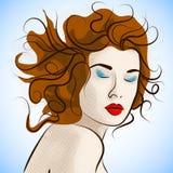 Porträt von kreativen Modefrauen vektor abbildung