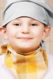 Porträt von lächeln wenig Koch lizenzfreie stockbilder