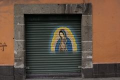 Porträt von La Lupita in Mexiko stockfotografie