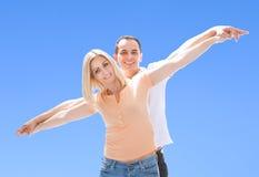 Porträt von liebevollen Paaren Stockfoto