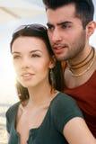 Porträt von liebevollen Paaren Lizenzfreies Stockfoto