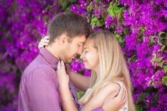 Porträt von Liebhabern nähern sich Farben Stockfotos
