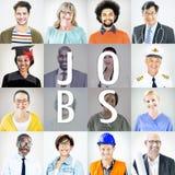 Porträt von multiethnischen Mischbesetzungs-Leuten stockbilder