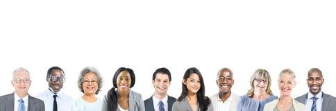 Porträt von multiethnischen verschiedenen Geschäftsleuten Lizenzfreies Stockfoto