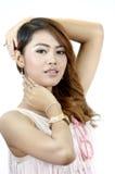Porträt von nette asiatische Frauen getrennt Stockfotos