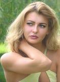 Porträt von schönem, nahes hohes des Mädchens. Stockfoto