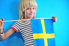 Porträt von Schweden-Jungen an der Wand stockbilder