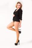Porträt von sexy Blondinen Lizenzfreies Stockfoto
