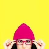 Porträt von stilvollen Mädchen Lizenzfreie Stockbilder