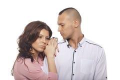 Porträt von traurigen Paaren lizenzfreie stockbilder
