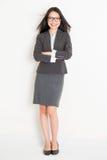 Porträt von weiblichen asiatischen Wirtschaftlern stockbild