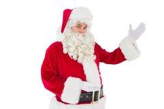 Porträt von Weihnachtsmann-Vertretung Stockfotografie