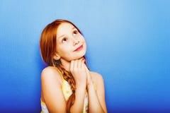 Porträt von wenig Mädchen mit 10-Jährigen Stockfoto