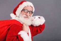 Porträt weißen Bartes Santa Claus Withs A stockfotografie