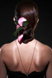 Porträt-Yong-Frauen der Mode stilvolle Stockfotografie