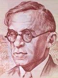 Porträt Ze'ew Jabotinsky Stockbilder