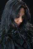 Porträternste Zigeunerfrau Stockfoto
