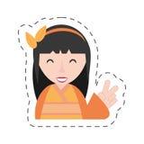 Porträtgeisha-Kimonodiadem Stockfotografie
