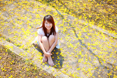 Porträtgesicht der recht asiatischen Frau Lizenzfreies Stockbild