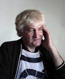 Porträtmann in seinem 50s mit dem blonden Haar Lizenzfreies Stockbild