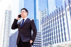 Porträtreizend hübscher Exekutivmann: Attraktiver Geschäftsmann lizenzfreie stockbilder