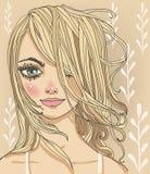 Porträts der jungen Frau vektor abbildung