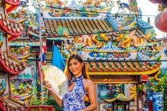 Porträts eines schönen Chinesen stockfoto