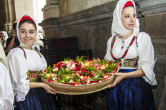 Porträts im sardinischen Kostüm Lizenzfreies Stockbild