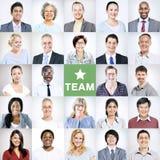 Porträts von multiethnischen verschiedenen Geschäftsleuten Lizenzfreie Stockbilder