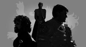 Porträts von Reihencharakteren Stockbild