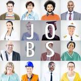Porträts von verschiedenen Leuten mit verschiedenen Jobs Lizenzfreies Stockfoto