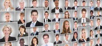 Porträts von Wirtschaftlern lizenzfreies stockfoto