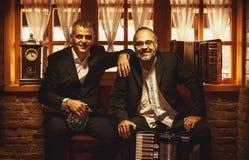 Porträts von zwei Musikern Lizenzfreie Stockfotos