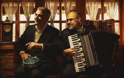 Porträts von zwei Musikern Lizenzfreies Stockbild