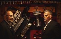 Porträts von zwei Musikern Lizenzfreie Stockbilder
