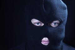 Porträtterrorist, in maskiert Stockbilder