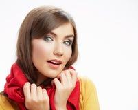 Portrai felice sorridente della donna dei giovani Fotografia Stock