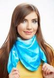 Portrai feliz sonriente de la mujer de los jóvenes Imagen de archivo