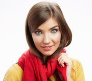 Portrai feliz sonriente de la mujer de los jóvenes Imagen de archivo libre de regalías