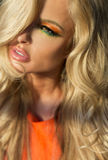 Portrai OD που καταπλήσσει την ξανθή ομορφιά στοκ εικόνες