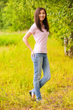 Portraiit of young beautiful woman Stock Photo