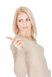 Portrail of beautiful woman in casual clothes Royalty Free Stock Image