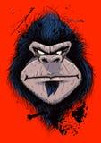 Portrail de gorille fâché Photos libres de droits