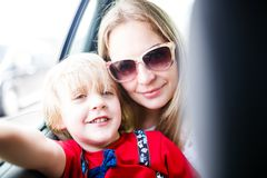 Portrain of mother and son Stock Images