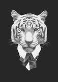 PortraiPortrait тигра в костюме иллюстрация вектора