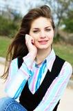 Portrair della ragazza bella teenager Fotografia Stock Libera da Diritti