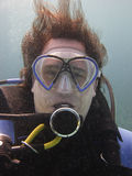 Portrait of a diver Stock Image